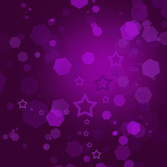 Beautiful purple abstract holiday background with stars