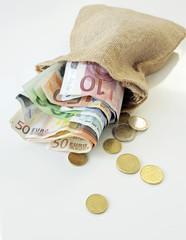 Geld in Säckchen