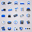 transportation navy blue stickers