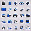 multimedia navy blue stickers