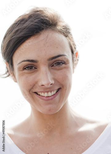 portrait of a natural young woman smiling