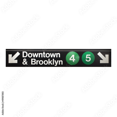 New York city subway sign in midtown Manhattan