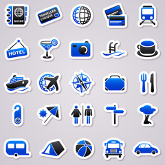 travel navy blue stickers