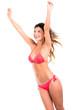 Happy summer woman in bikini
