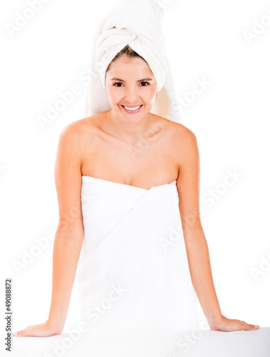 Spa woman in a towel