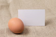 egg with a card