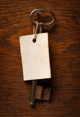 Old Key With Label