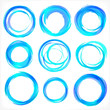 Design elements in blue colors icons. Set 2