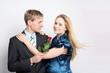 Verlibtes Paar mit Rose
