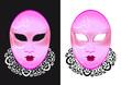 Masque Vénitien - rose -  yeux brillant - Carnaval