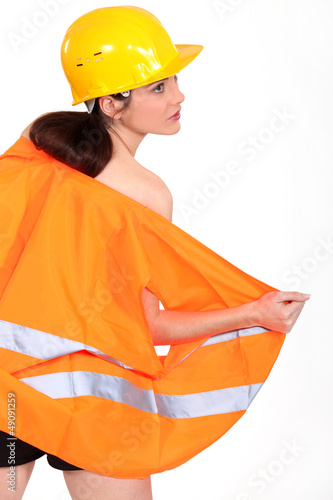 Sexy female laborer