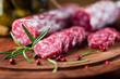 Spanish salami with rosemary