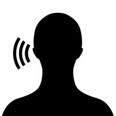 Listening man silhouette