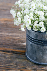 Bouquet of white baby's breath flowers