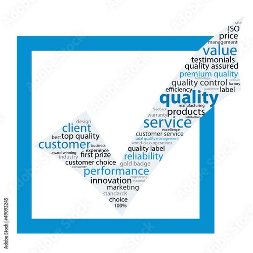 """QUALITY"" Tag Cloud (guarantee service reliability satisfaction)"