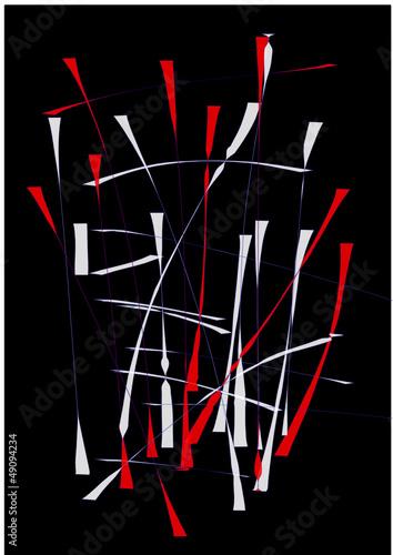 Rot-weißes Muster auf schwarzem Hintergrund © megakunstfoto