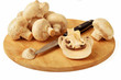 mushrooms and a knife