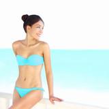 Beach bikini woman beauty