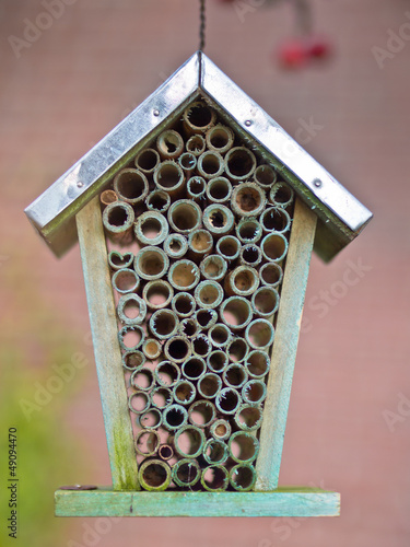 Close up insect hotel