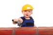 der junge Bauarbeiter
