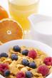 cereali con frutta e latte