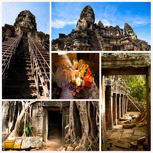 Collage, Angkor Wat, Cambodia. - 49095052