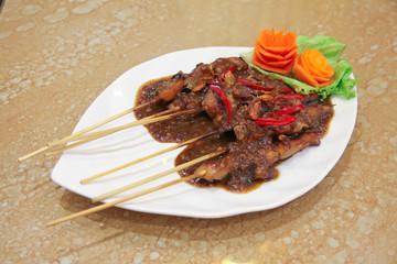 indonesian food named satay