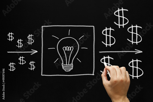 Profitable Investment Ideas Concept