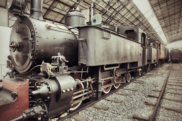vintage steam train
