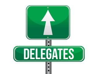 Delegates Green Road Sign