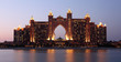 Atlantis Hotel at night. Palm Jumeirah, Dubai