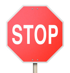 Stop Sign - Isolated