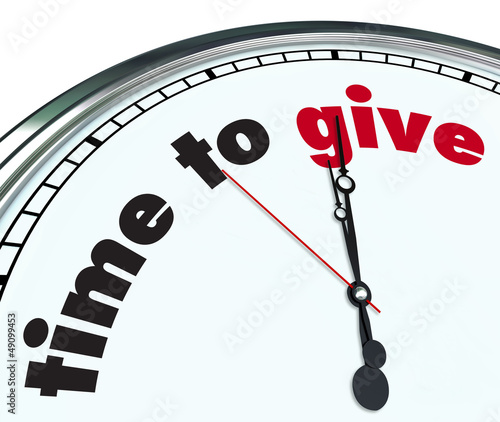 Time to Give - Ornate Clock