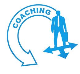 coaching sur symbole bleu