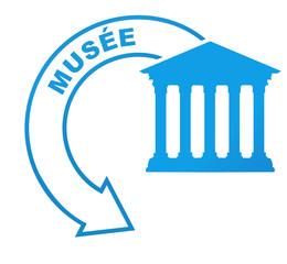 musée sur symbole bleu