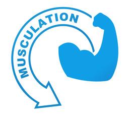 musculation sur symbole bleu