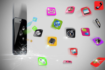 Spread phone icon 3D
