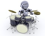Robot with Drum Kit
