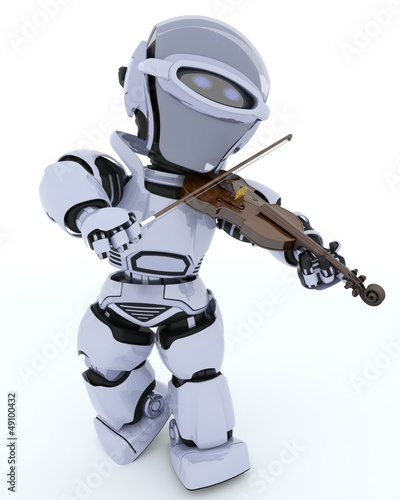 Robot playing the violin