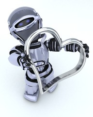 Robot with heart charm