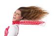Glückliche Frau im Sommer - Haare - isoliert