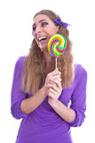 Lollipop Girl mit Lolli
