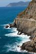 beautiful coastline in Cinque Terre, Liguria, Italy