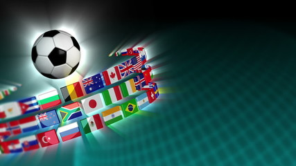Soccer International Flags Sport Background 52 (HD)