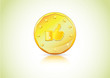 Thumbs up, Like Symbol on a gold coin � economy, currency