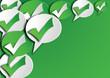 symbole approuvé fond vert paysage