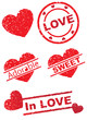 Stamp of Love, adorable, Sweet, heart,  In love