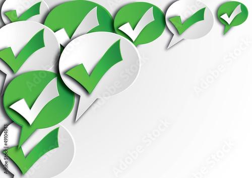 symbole approuvé fond blanc paysage