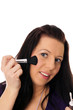 pretty woman with cosmetic brush