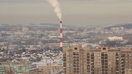 Panorama of a typical city (Ufa, Russia)